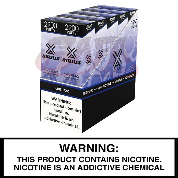 Vapor Lax SIRIUS Disposable Vapes [2200 Puffs] 10pc
