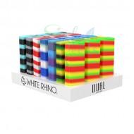 White Rhino DUAL Silicone/Glass Dab Kits 21ct