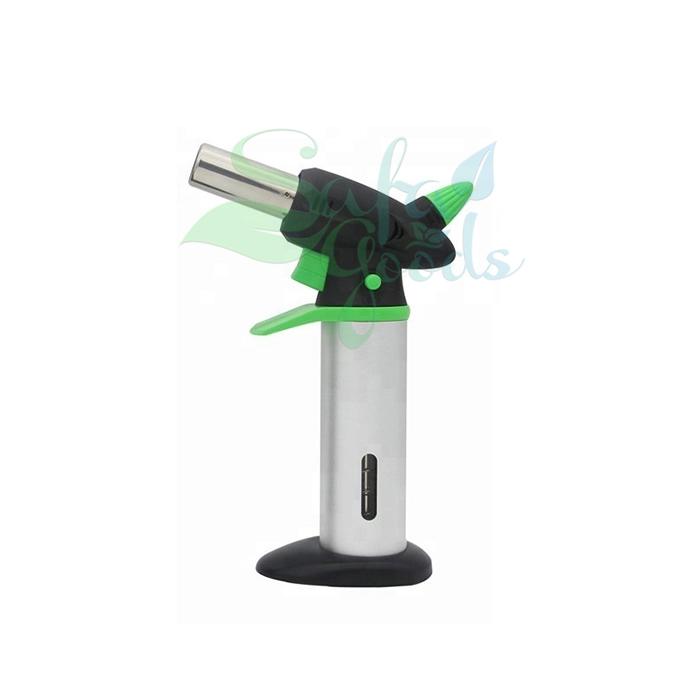 Gas Torches - Single Barrel [Silver/Green/GF-878]