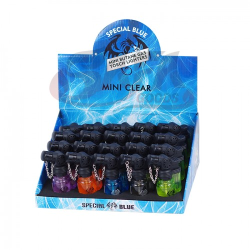 Special Blue - Mini Clear Plastic Lighters - 20PC Display