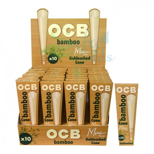 OCB Bamboo Cones (70mm) 10PK/32CT