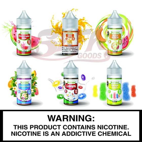 Pod Juice | 55mg Salt Nic | 30mL Bottles
