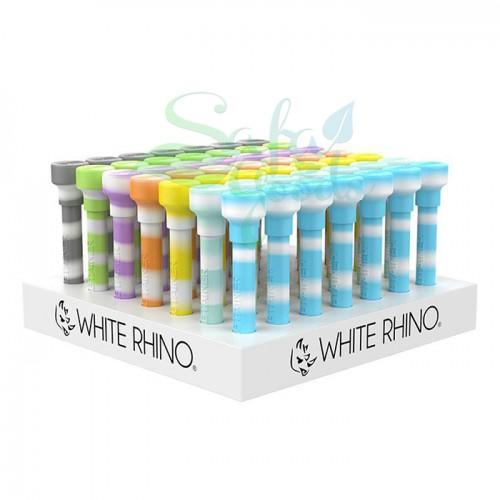 White Rhino DABTAINER Silicone/Glass Dab Kits 49ct