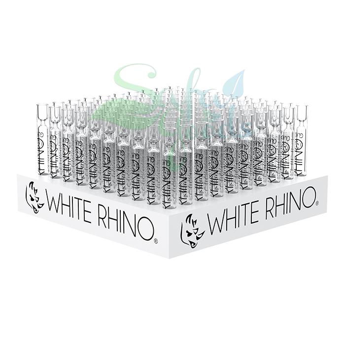 White Rhino Glass Chillums 100ct