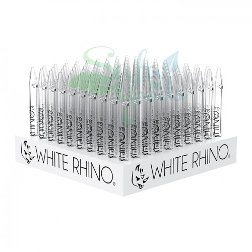 White Rhino Glass Pyrex Straws 100ct