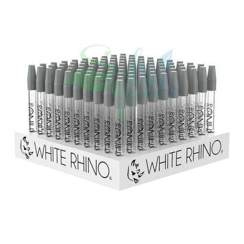 White Rhino Glass Quartz Straws 100ct