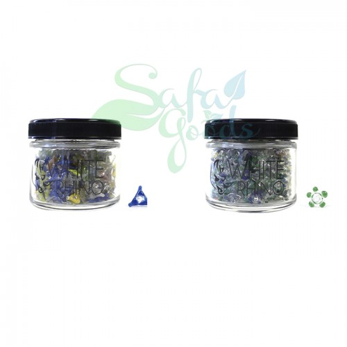 White Rhino Glass Screens 400ct Jars